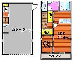 [テラスハウス] 岡山県岡山市中区高島新屋敷丁目なし の賃貸【/】の間取り