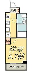 ライジングプレイス堀切[8階]の間取り