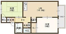 セジュール松川[2階]の間取り