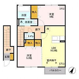 プランドールI[2階]の間取り