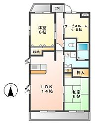 ミクニハイツ2[7階]の間取り