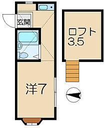 サニーヒルズ弘明寺1[1階]の間取り