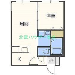 北海道札幌市東区北十六条東8丁目の賃貸マンションの間取り