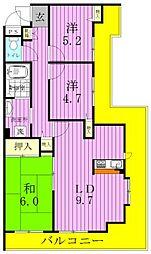 エスポワール新松戸[303号室]の間取り