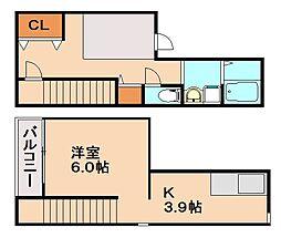 福岡県福岡市博多区光丘町3丁目の賃貸アパートの間取り