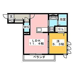仮)岐阜市加納アパート[2階]の間取り