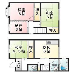 [テラスハウス] 滋賀県甲賀市水口町八坂 の賃貸【/】の間取り