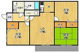 兵庫県西宮市高木西町の賃貸マンションの間取り