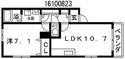 アデレード粉浜I[1階]の間取り