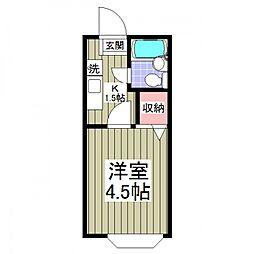 ジョイフル松戸[102号室号室]の間取り