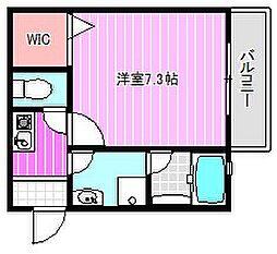 近鉄橿原線 田原本駅 徒歩5分の賃貸アパート 1階1Kの間取り