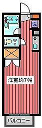 埼玉県川口市中青木1丁目の賃貸アパートの間取り