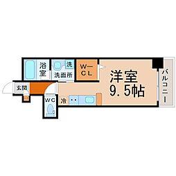 愛知県名古屋市東区車道町3丁目の賃貸マンションの間取り