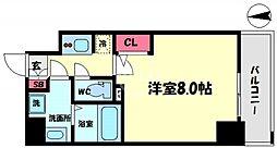 S-RESIDENCE西長堀 10階1Kの間取り