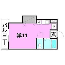 GEN持田館[203 号室号室]の間取り