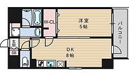エステムコート北堀江[6階]の間取り