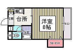 サンシャイン田代2[407号室]の間取り