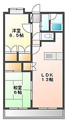静岡県静岡市葵区羽鳥5丁目の賃貸マンションの間取り