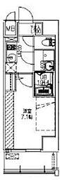 サムティ福島Rufle 2階1Kの間取り