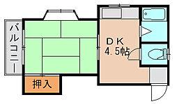 山田コーポ[1階]の間取り
