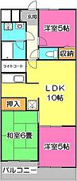ライオンズマンション西所沢[3階]の間取り