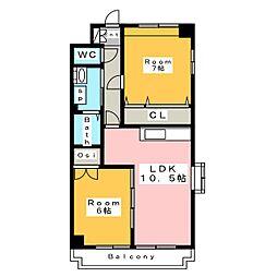 銀座メゾン碧新[1階]の間取り