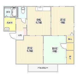 サンコートヴィレッジB棟[2階]の間取り