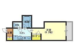 大阪府大阪市中央区安堂寺町1丁目の賃貸マンションの間取り