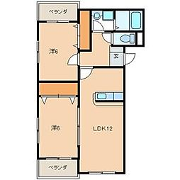 プレステージタカラN[2階]の間取り