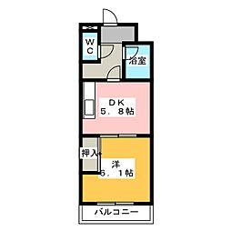 あぷと大正坂[3階]の間取り