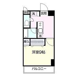 館坂マンションA[106号室]の間取り