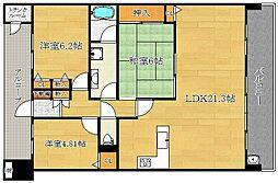 茨木ガーデンレジデンス[11階]の間取り