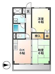 ハウスアベニュー[3階]の間取り