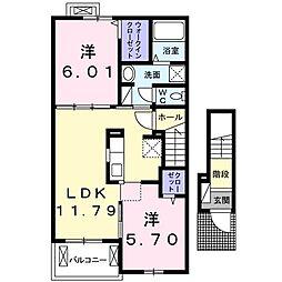 メゾン カンパーニュ III[2階]の間取り
