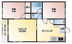 パールメゾンFuji  B[101号室]の間取り