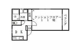コーポTOITA[1階]の間取り