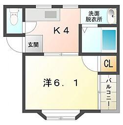 ヴァンベール二番館[2階]の間取り
