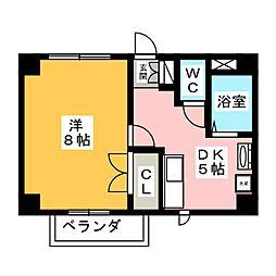 サクセス・フレイメイワ[3階]の間取り