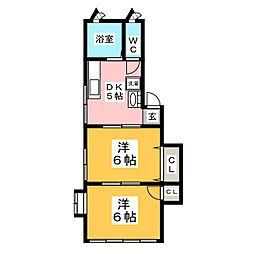 ライトハウス柏木[2階]の間取り