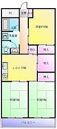 東山本ハイツ[3階]の間取り