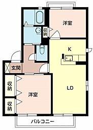 ガーデンパークC棟[1階]の間取り