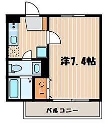 神奈川県横浜市神奈川区浦島町の賃貸マンションの間取り