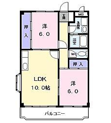 メゾン岩塚B[303号室]の間取り
