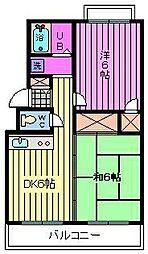 横田ハイツ[103号室]の間取り