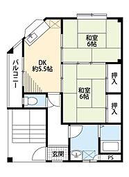原田マンション[2階]の間取り