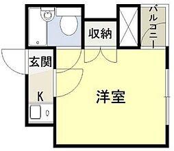 シャンクレール塚本[512号室]の間取り