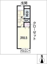 サウスゲートA棟[2階]の間取り