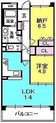 甲子園六石町ハイツ[512号室]の間取り