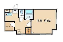 ビューハイム・コヤナギ睦[3階]の間取り