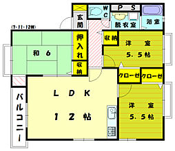 ヴィラ舞の里2[2階]の間取り